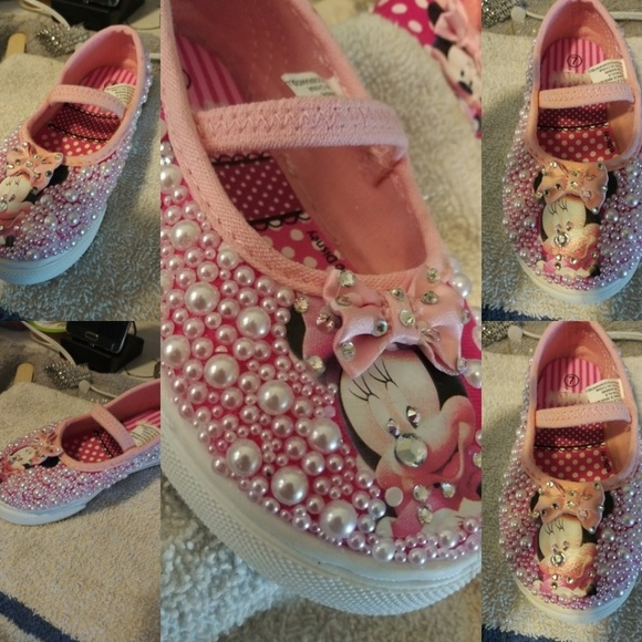 72bd05aae244 Bling Minnie Mouse Toddler Shoes